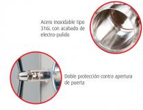 Cámara autoclave horzontal automático