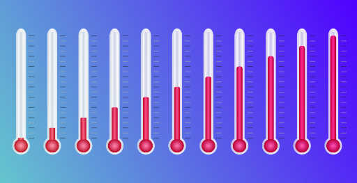 alta temperaturas (100)y bajas temperaturas (50 a 60)