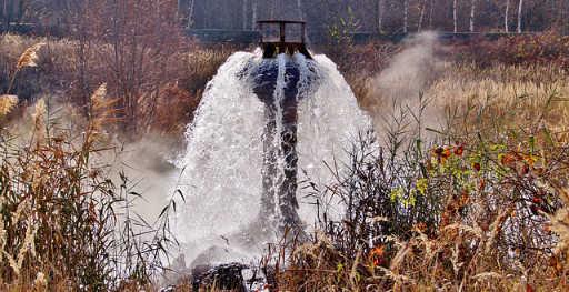 dragado de agua subterránea
