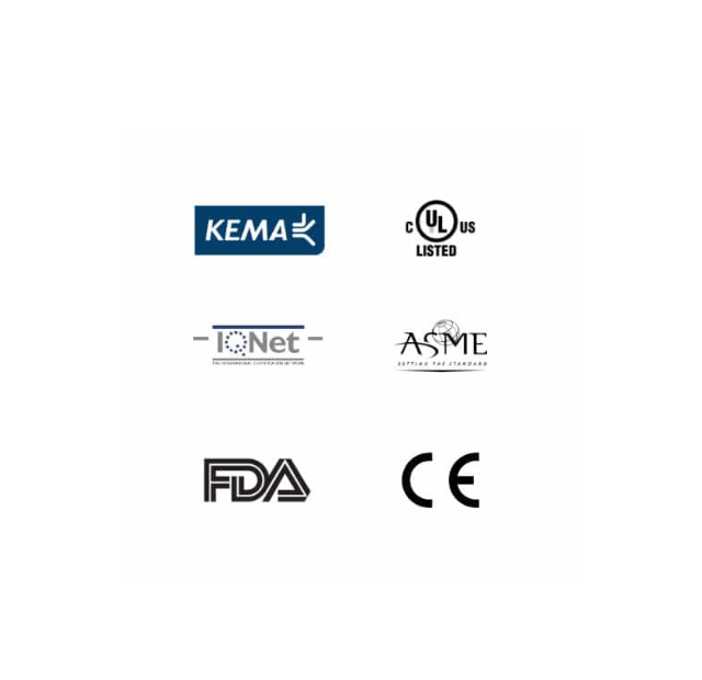 Certificaciones KEMA - FDA - CE - ASME - IQNET - UL certificaciones Autoclave tuttnauer